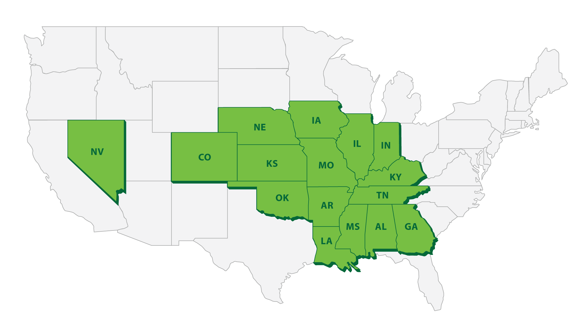 Map of US States